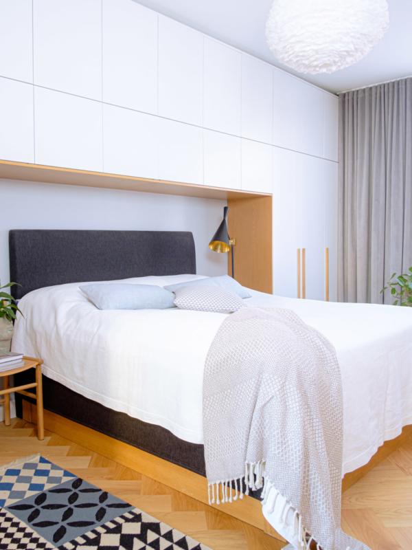 Matot ja muut tekstiilit toimivat hyvin makuuhuoneen verhojen kanssa.